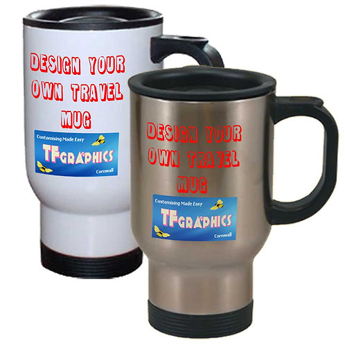 Travel Mugs - Personalised to your Design