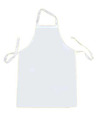 Childs white Apron Personalised
