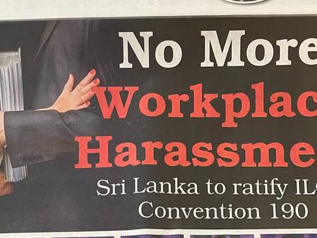 Sri Lanka to ratify ILO Convention 190