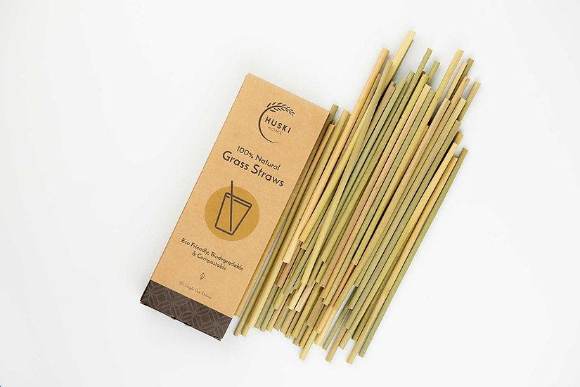 Huski Home 100% Natural Grass Straws