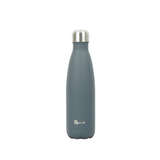 Grey stainless steel insulated bottle