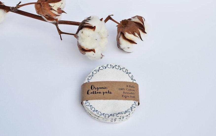 Organic cotton pads