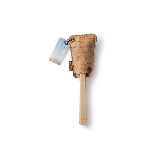 Bamboo travel cutlery in cork sleeve