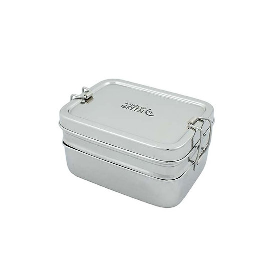 2 Tier Stainless Steel Lunchbox + mini container