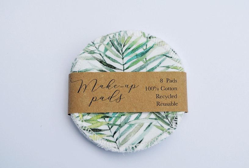 Cotton pads - leaf pattern