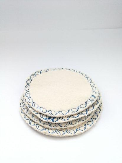 Cotton pads - colour stitch
