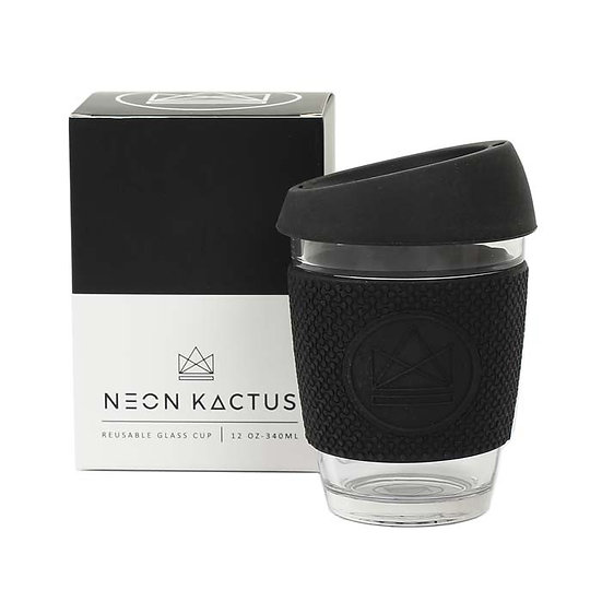 Glass coffee to go cup | Black