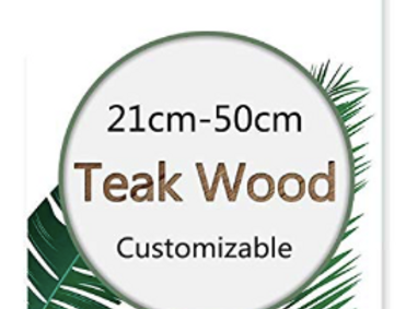 Magnetic Poster Hanger Frame Natural Teak Wood