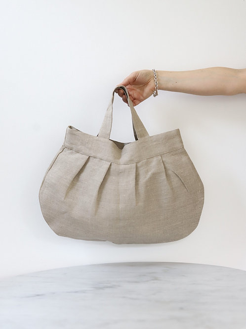 Linen Pleated Purse