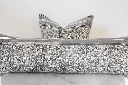 Block Print Pillows - Wisteria Noir