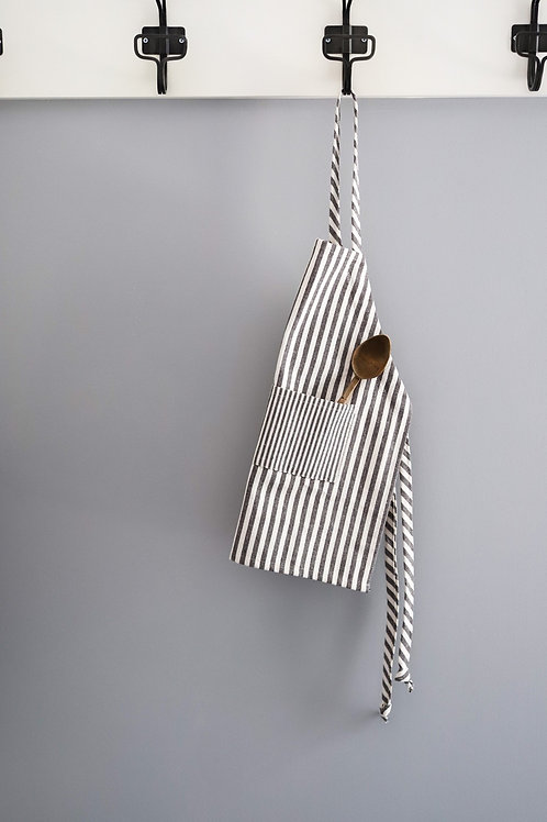 Charcoal Stripe Apron - child