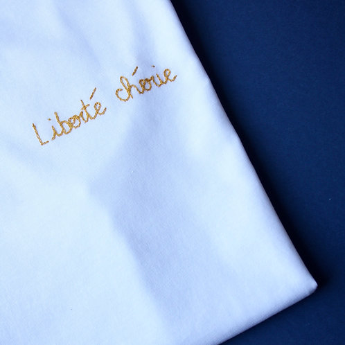 T-shirt personnalisé broderie message