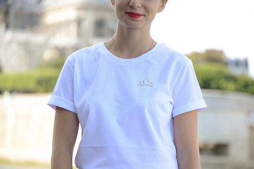 T-shirt brodé croissant