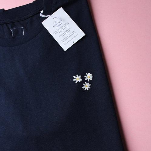 T-shirt brodé marguerites