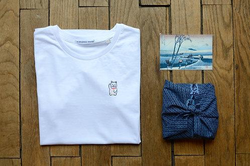 T-shirt brodé maneki neko