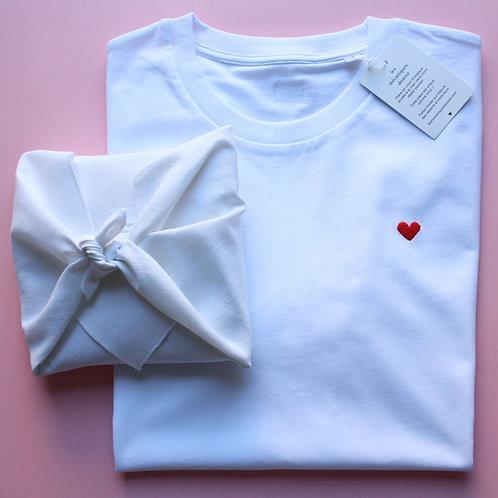 T-shirt brodé coeur