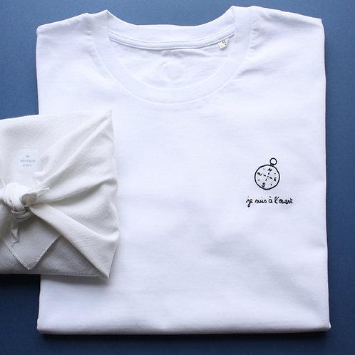 T-shirt brodé la boussole