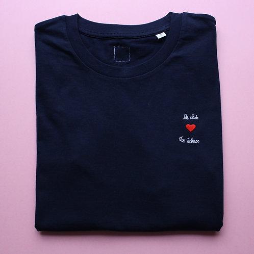 T-shirt brodé club des échecs