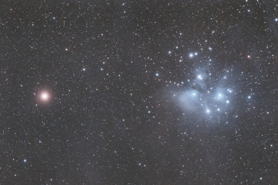 Mars and the Pleiades