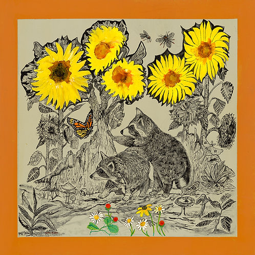 Sunflowers and Racoons