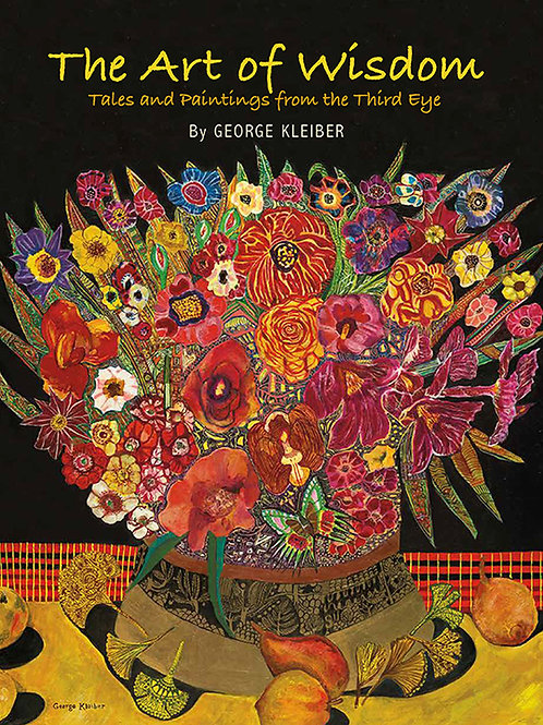 The Art of Wisdom book cover with painting of a vase of bright colorful flowers