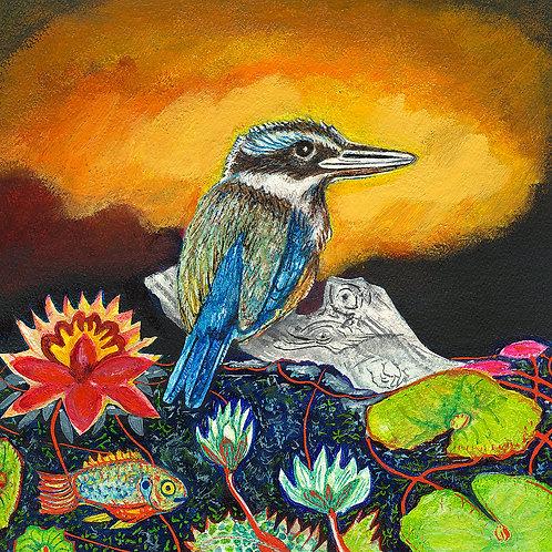 Kingfisher and Fish