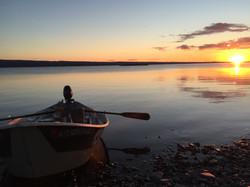 Kenai River Driftboat Sunset