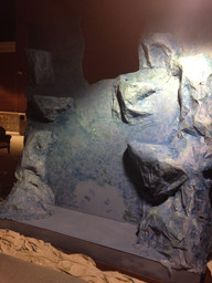 Painting the paper mache.