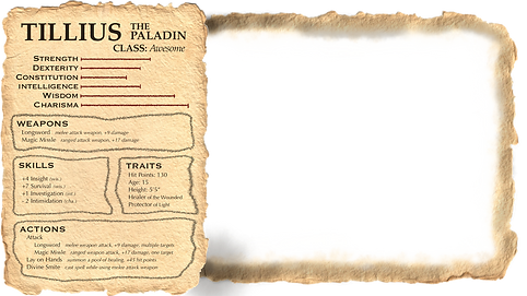 Tilly's Character Sheet