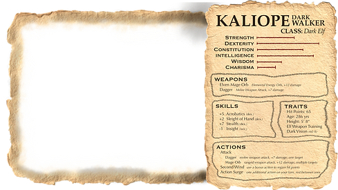 Kaliope's Character Sheet