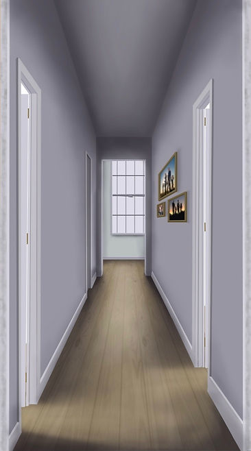 Hallway; drawn with Procreate.