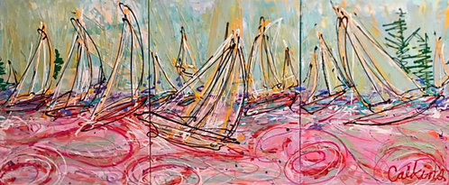 Sails At Scarborough - Triptych