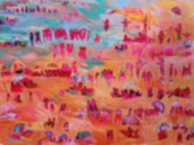 Day at the Beach 91x122cm Acrylic $1500.