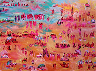 Day at the Beach 91x122cm Acrylic $1500.