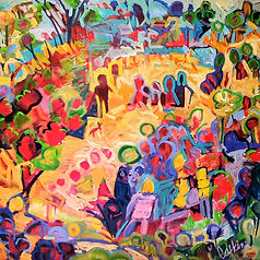 Day at the Park 122x122cm Acrylic $1800.
