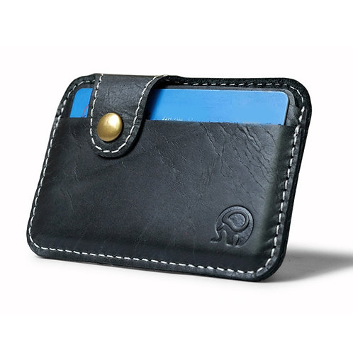 Retro Leather Card Wallet Men Business Bank Card Holder Thin Credit Card Case