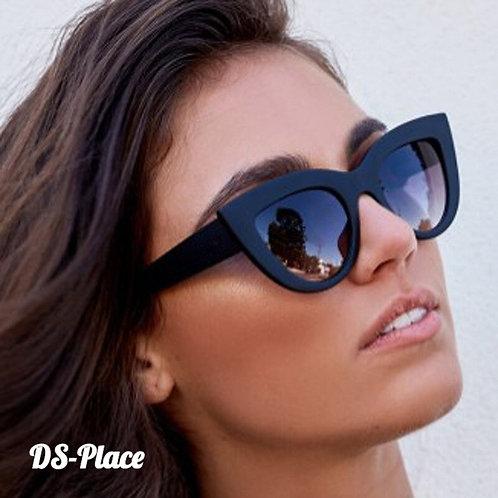 DS-Place 2020 UV400 Women Cat Eye Matt Black Brand Designer Sunglasses