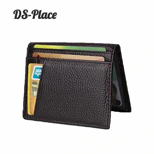 Super Slim Soft Wallet 100% Cow Genuine Leather Mini Credit Card Wallet