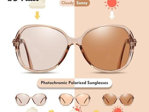 2020 Women Photochromic Polarized Chameleon Sunglasses Full Package