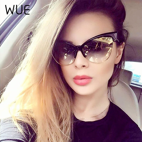 2020 WUE Women Trend Uv400 Versatile Big size Luxury Sunglasses
