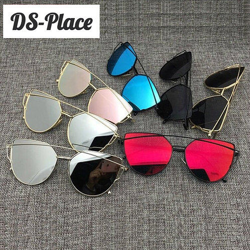 2020 Women Brand Designer Vintage Mirror Metal Reflective Sunglasses