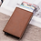 Thumbnail: Men Rfid Anti theft Id Card Holder Leather Metal Wallet Male Coin Mini Carbon