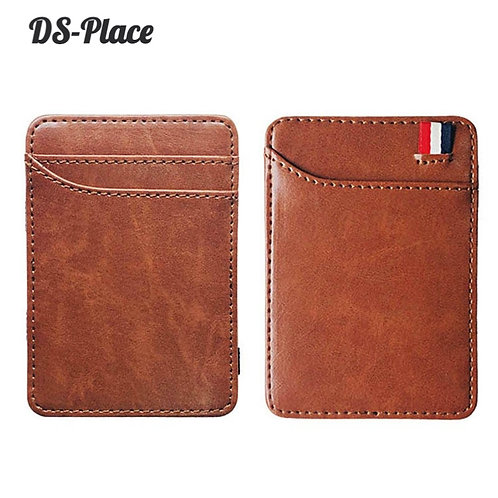 DS-Place Fashion Slim Men's Leather Magic Wallet Credit Card Money Holder Clip
