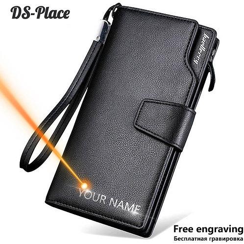 Men Wallets High Quality Card Holder Male Purse Zipper PU Leather Wallet for Men