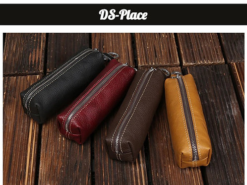 Genuine Cow Leather Men Women Key Bag Small Business Kay Case