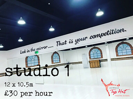 Dance studio 1 Hire