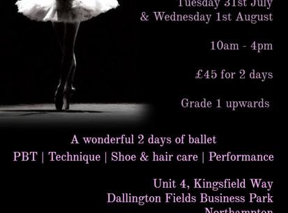 Ballet Summer Workshops