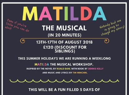 Matilda Summer School 2018