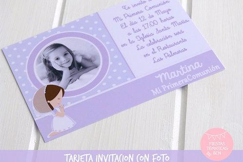 TARJETA INVITACION PERSONALIZADA (IMPRIMIBLE)