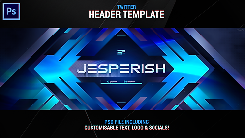 Clean Header Template (Customisable Text, Logo and Socials)